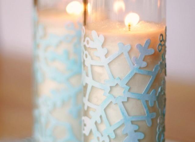 snowflake votives