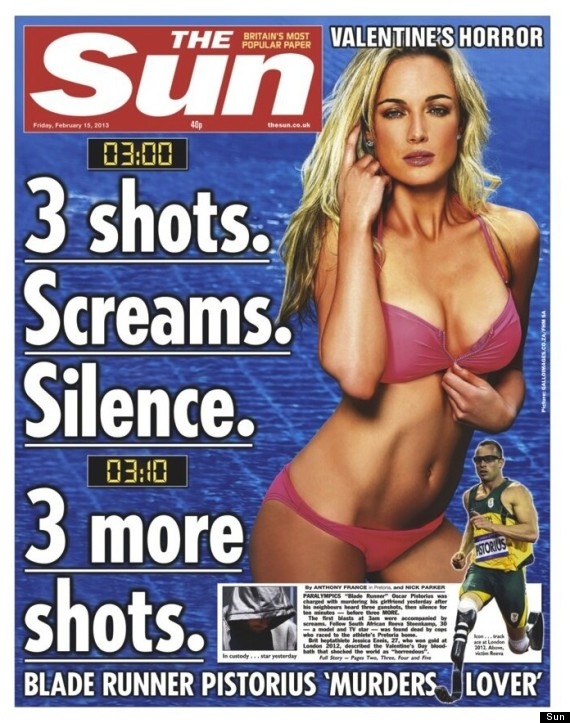 the sun oscar pistorius