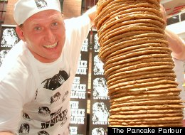 PANCAKE PANDEMONIUM: One Man Eats 80, Another Stacks 50 (PHOTOS, VIDEO)