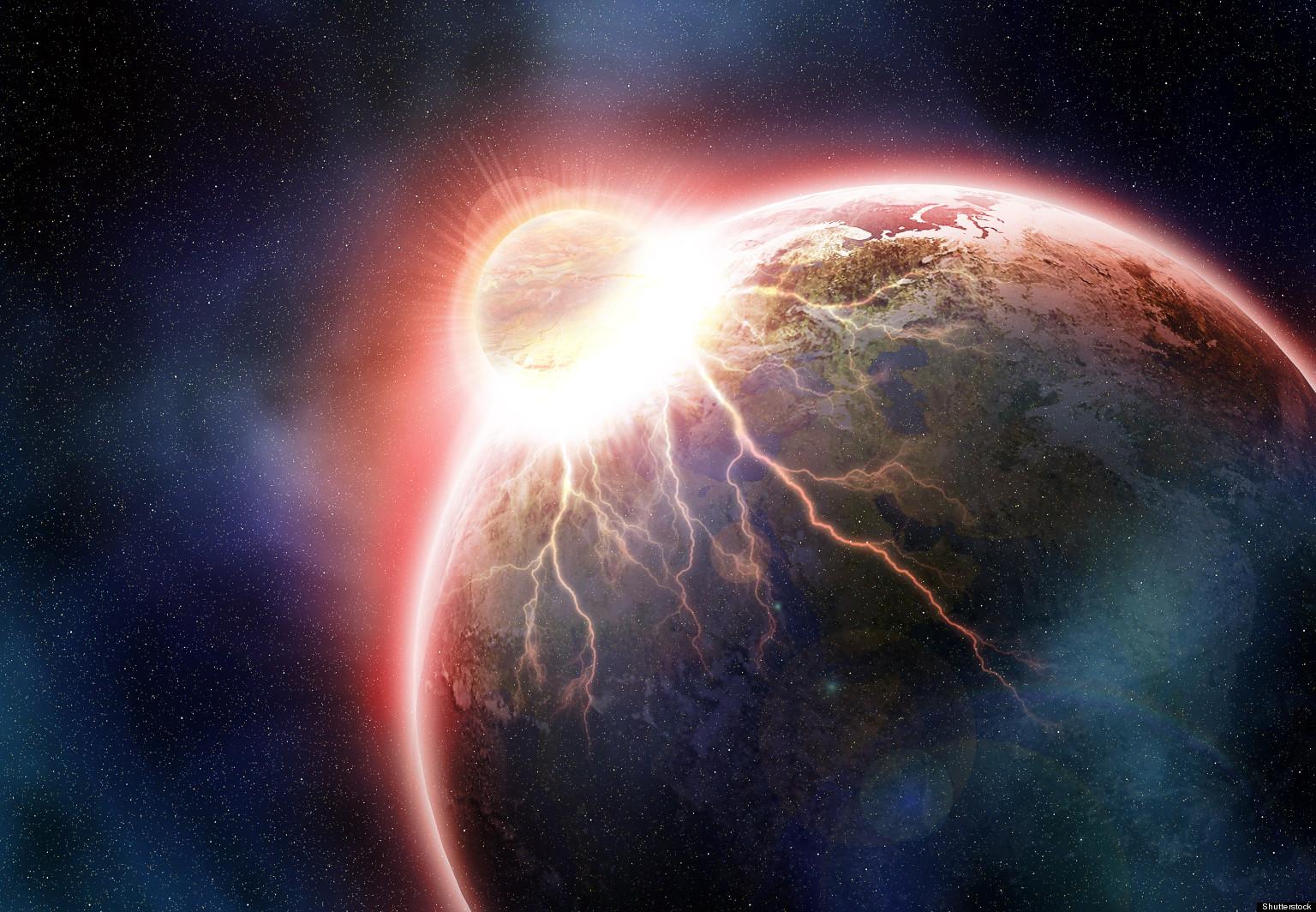 Real meteor crash
