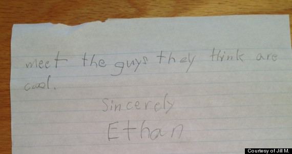 cute kid note of the day