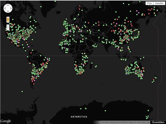 météorites carte