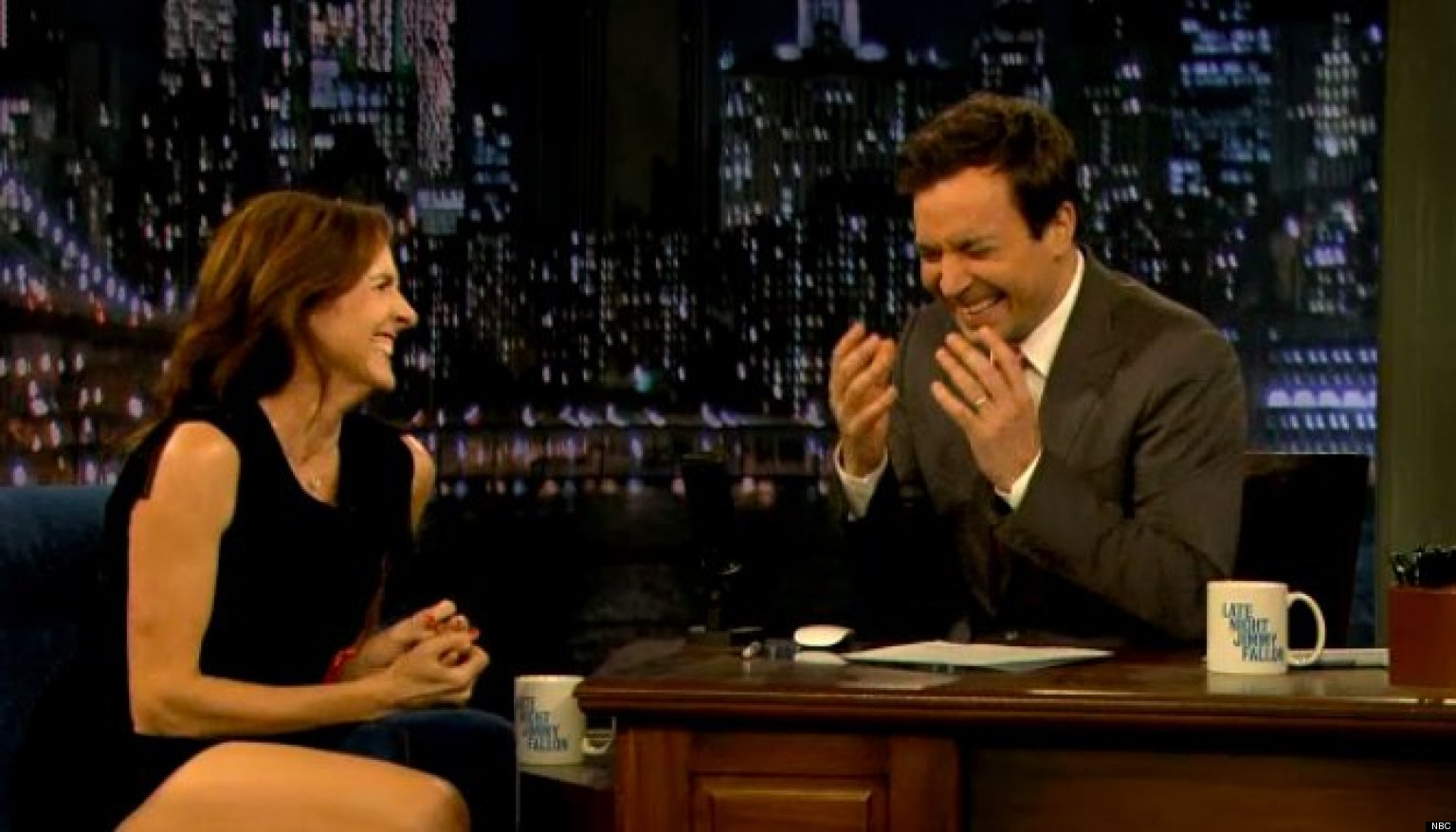 Molly Shannon Cracks Up Jimmy Fallon On Late Night As