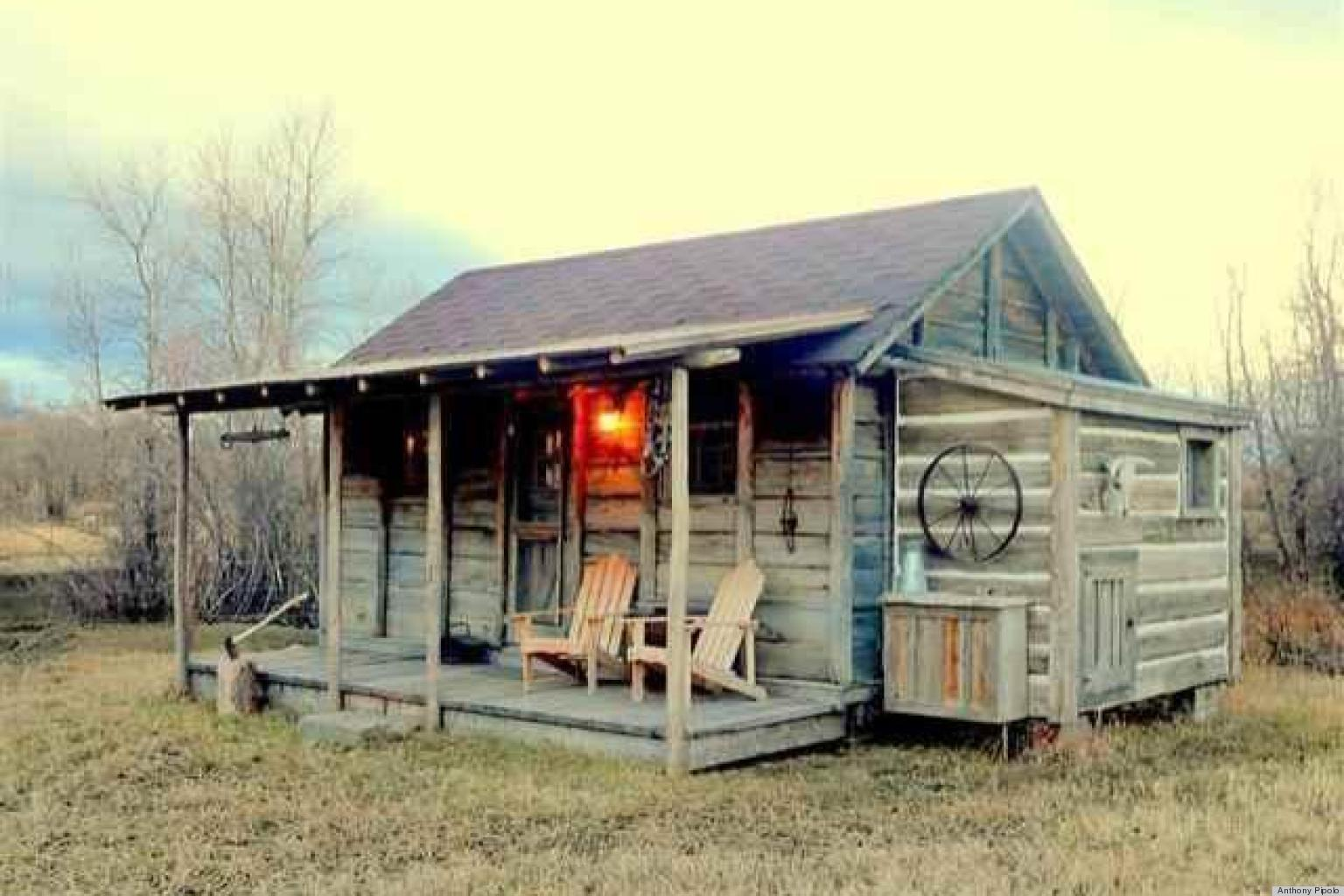 Yellowstone cabin for sale may prove john f kennedy loved for Micro cottage builders