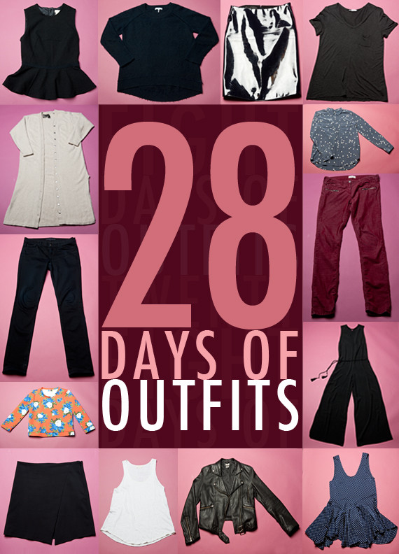 Below are the items we selected for our 28 Outfit Challenge