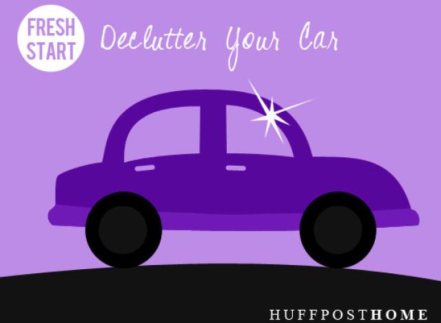 declutter the car