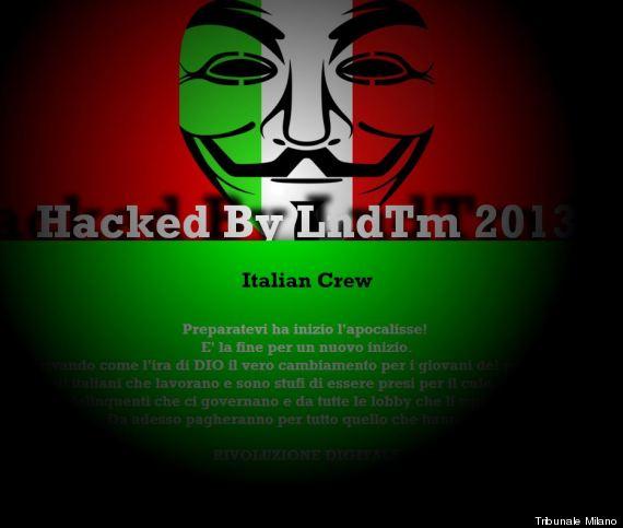 hackerato sito tribunale milano