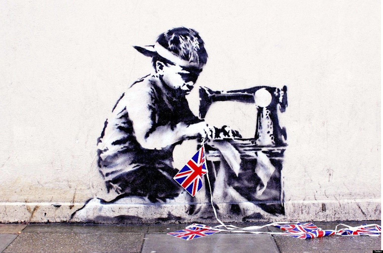 banksy 39 slave labour 39 mural could fetch 1m at new auction