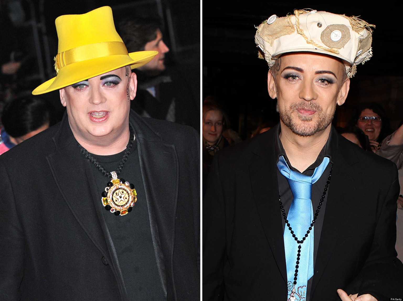 Boy George shows off weight loss at Whatsonstage.com ...