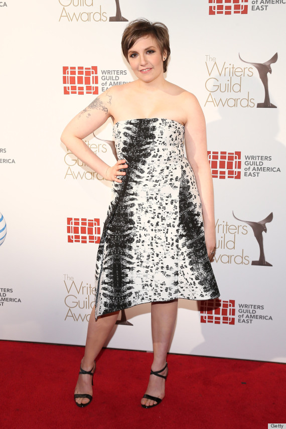 lena dunham writers guild awards dress