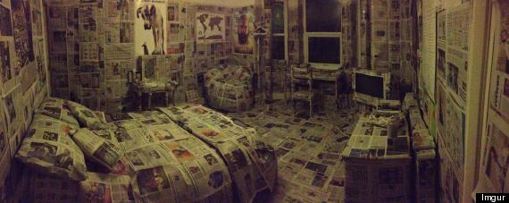 newspaper room prank