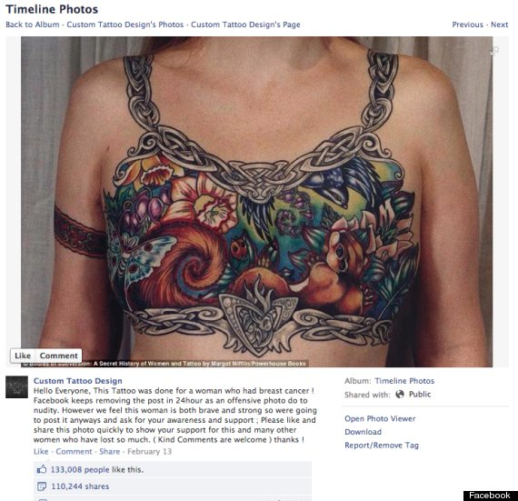 breast cancer tattoo facebook