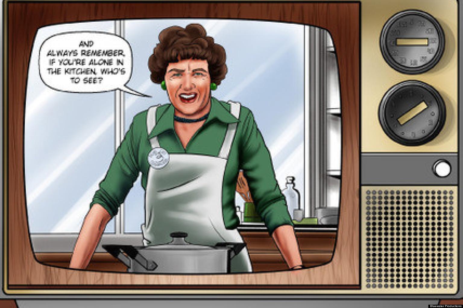 Image result for snl julia child cartoon