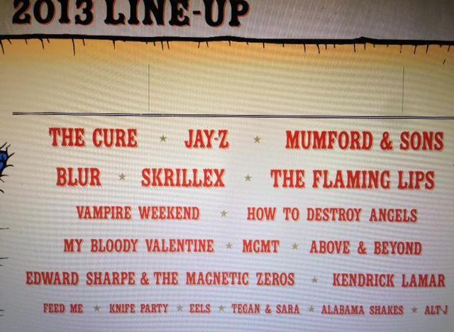lollapalooza 2013 lineup leaks