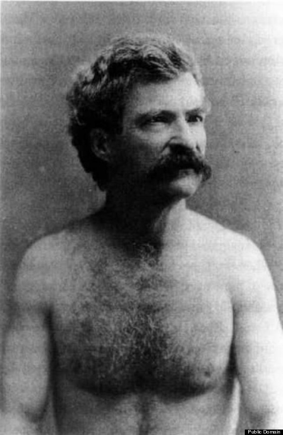 shirtless mark twain