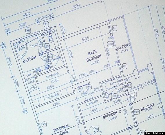 planimetria casa pistorius