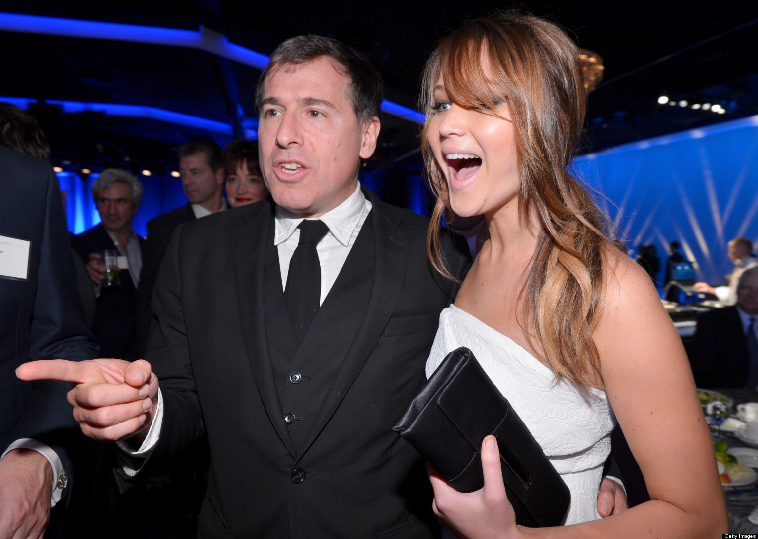 Photo of David O. Russell & his friend actress  Jennifer Lawrence -